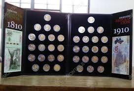 album monedas 5 pesos conmemorativas con biletes