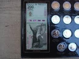 album monedas 5 pesos conmemorativas con billetes