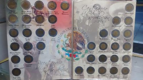 album monedas 5 pesos conmemorativas lleno