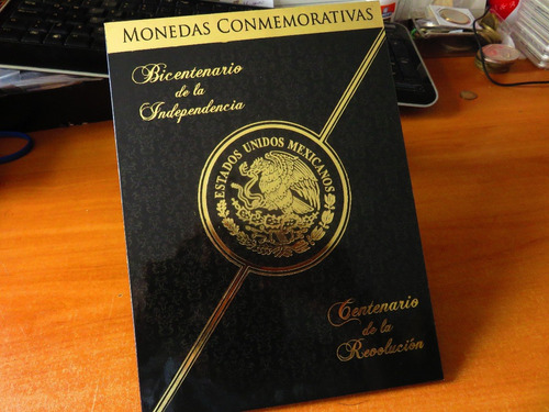 album monedas 5 pesos independencia revolucion escudo