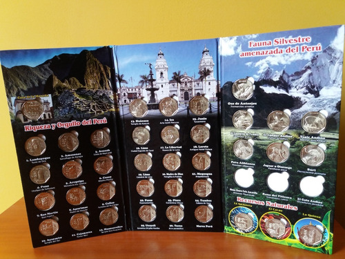 album monedas de colección (vacios x2)