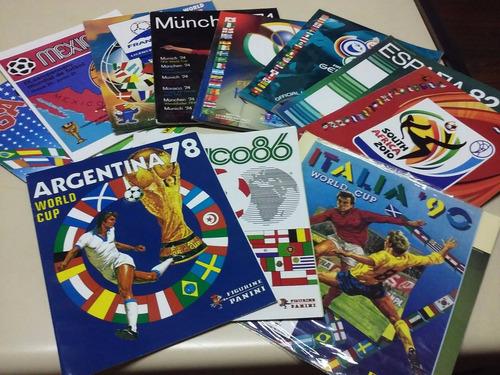 album mudiales futbol panini - 11 mundiales 11 albums