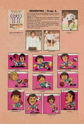 album mundial artecrom  mexico 1986 formato impreso