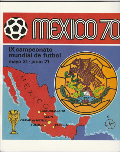 album mundial mexico 1970 panini ***(impreso)***