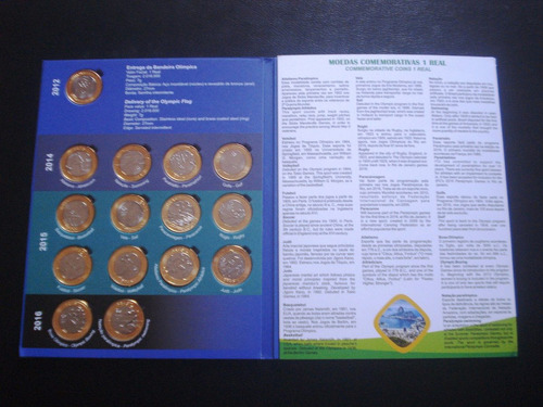 álbum olimpíadas rio 2012/2016 completo fc moedas+bandeira