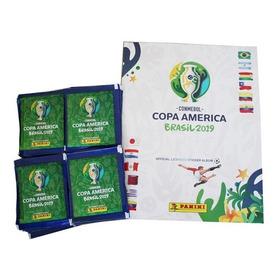 Álbum Panini Copa América Brasil 2019 +100 Sobres + Envío