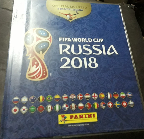 album panini russia 2018 tapa dura / paqueton s/200