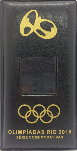 álbum para 17 moedas das olimpíadas rio 2016 - estojo