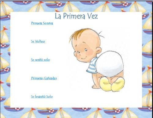 album para bebe puedes modificarlo mas de 80 pag baby shower
