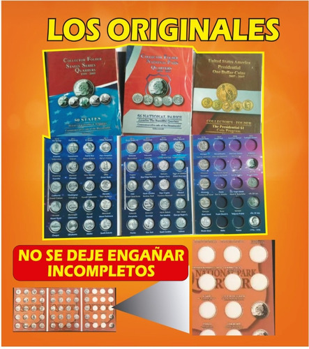 album para coleccionar las monedas de usa 25 centavos