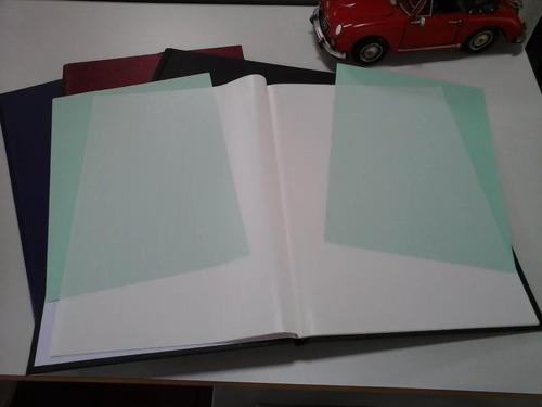 álbum para folhas inteiras de selos ou documentos