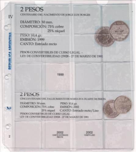 album para guardar monedas argentinas tomo 1, 2, 3, 4 y 5