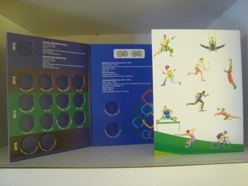 álbum para moedas das olimpiadas rio 2016