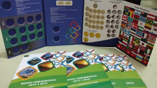 álbum para moedas das olimpiadas rio 2016 lançamento
