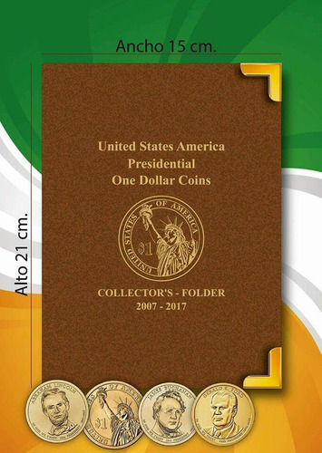 álbum para monedas $1 un dolar americanos