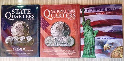 album para monedas cuartos de dolar usa nuevos estados y col