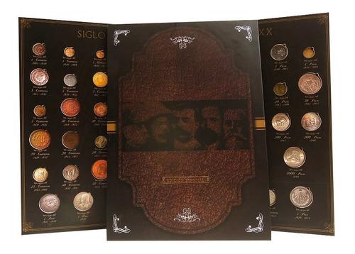 album para  monedas siglo xx hermoso full