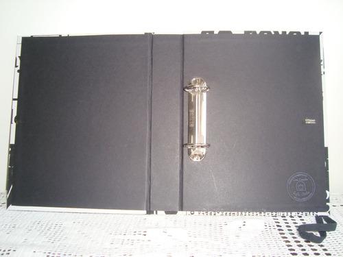 album para scrapbook 27x21 cm artesanal estampa jornal