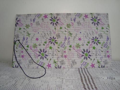 album para scrapbook 27x21 cm artesanal estampa princess