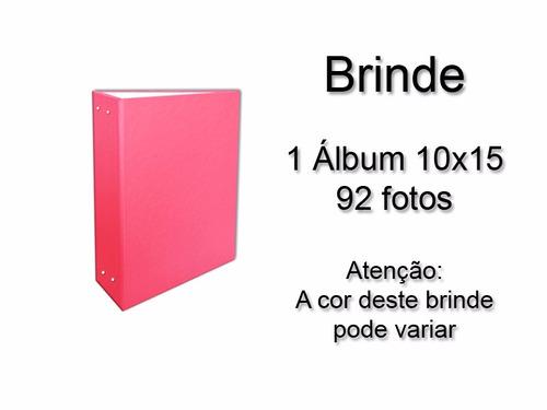 album  passarinho rosa 10x15 - 240 fotos + brinde