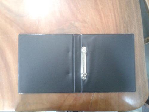 album pasta fichario pequeno pvc + folha p/ 300 moedas 2arg*