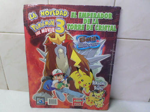 album pokemon gold & silver incompleto faltan 15