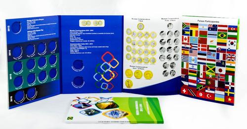 álbum porta moedas das olimpíadas rio 2016