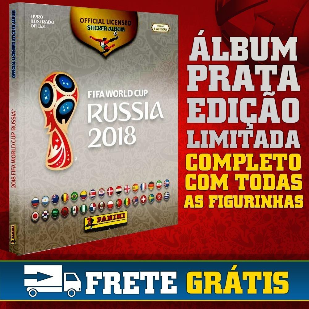 álbum prata copa do mundo rússia 2018 edição limitada panini. Carregando  zoom. 6329b9a31d2ee