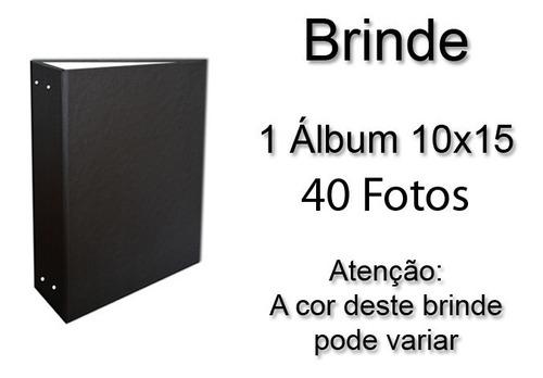 álbum prata liso 10x15 - 120 fotos  + brinde especial*