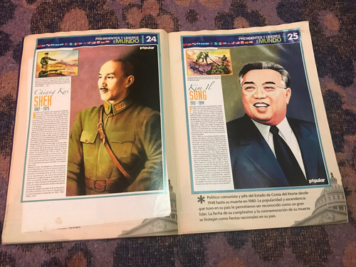 álbum presidentes y líderes del mundo de el popular