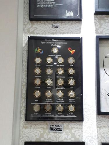 album quadro moldura porta moeda comemorativa olimpiada dh