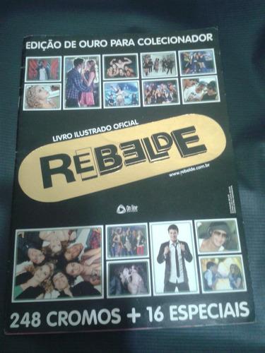 album rebelde - ed. ouro - livro ilustrado oficial