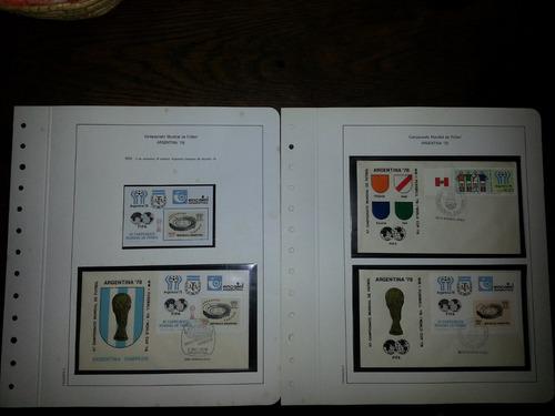 álbum+sellos+fdc+catálogo del mundial de fútbol argentina 78