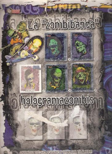 album stickers . zombimania  pepsico snacks