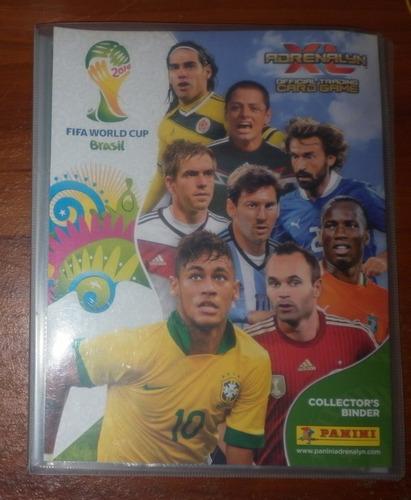 album + tarjetas futbol mundial brasil 2014 adrenalyn panini