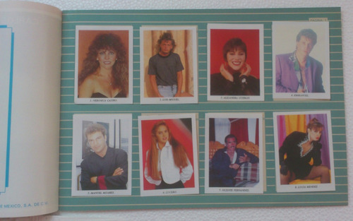 album tele-cine todas 320 estampas cantantes y artistas 90's
