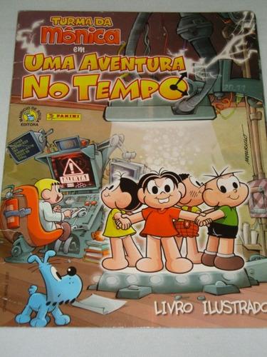 álbum turma da mônica uma aventura no tempo 120 figurinhas
