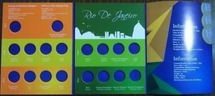 álbum vazio para a coleção de 1 real - olimpíadas