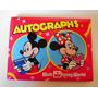 Autógrafos Minnie Y Mickey Y Pato Donald Para Coleccionar