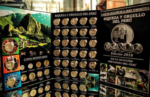álbumes de colección - series numismática del perú - soles