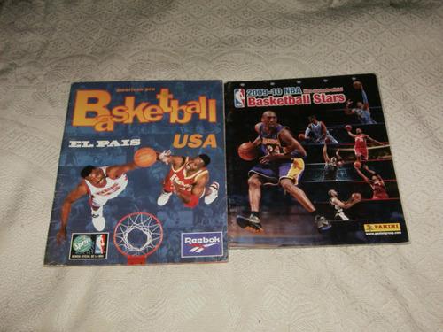 albumes de figuritas de futbol y basketball vacios....