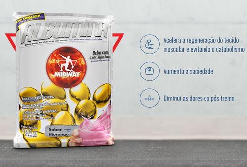 albumina - 2x 500 gramas - midway