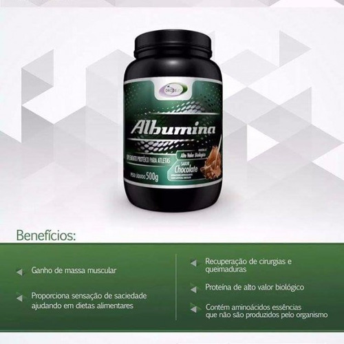 albumina 500g drozelev  sabor chocolate