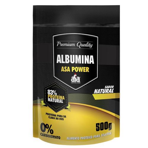 albumina asa power (500g) sem sabor - 83% proteína natural