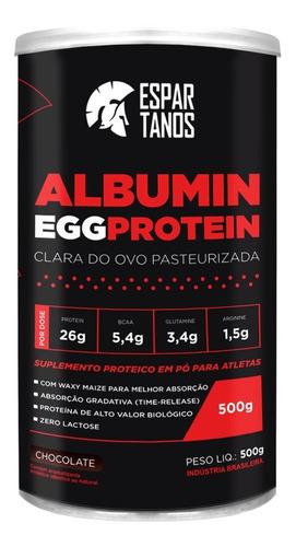 albumina egg protein clara de ovo 500g - espartanos
