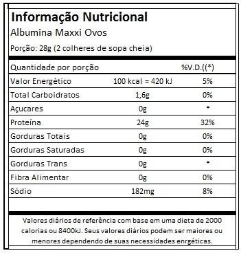 albumina maxxi ovos ( 5 unidades ) sabores