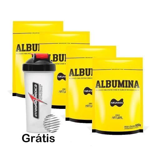 albumina naturovos 2 kg natural - frete grátis - atacado