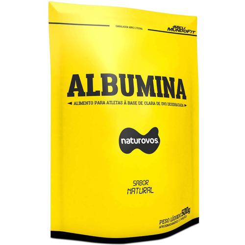 albumina naturovos 500g natural 2 unidades