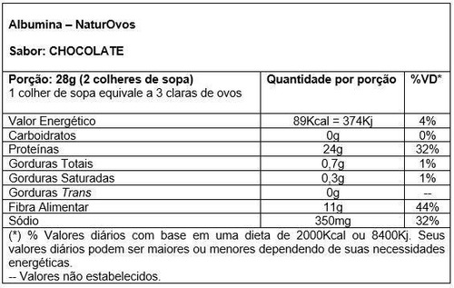 albumina naturovos 500g sabor natural - menor preço