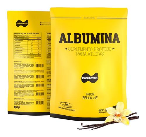 albumina naturovos 500g - sabores - original - frete grátis